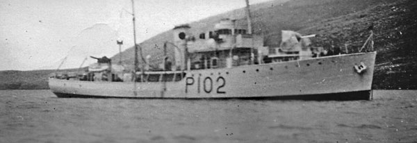 HMNZS Kiwi at Campbell Island, 1951