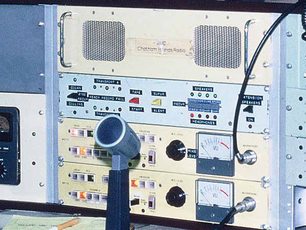 Various station switching and audio amps for two transmitter