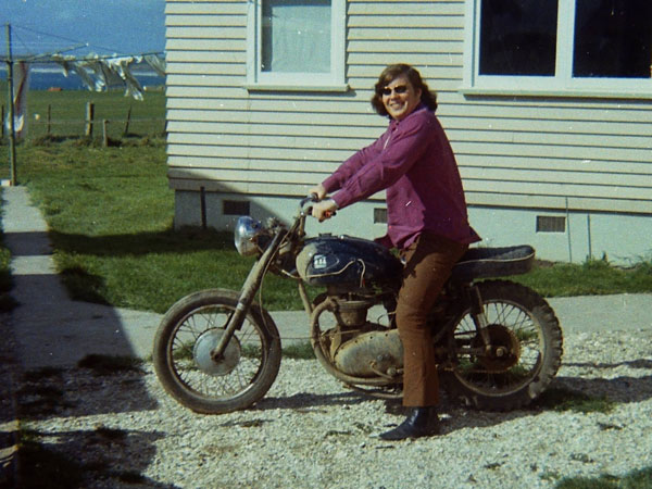 Like many people on the Chatham Islands, Peter Huitson preferred to get around on a motorcycle.