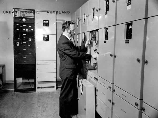 Alan Gifkins checking a Radio Section designed NZPO 48 Set in 194