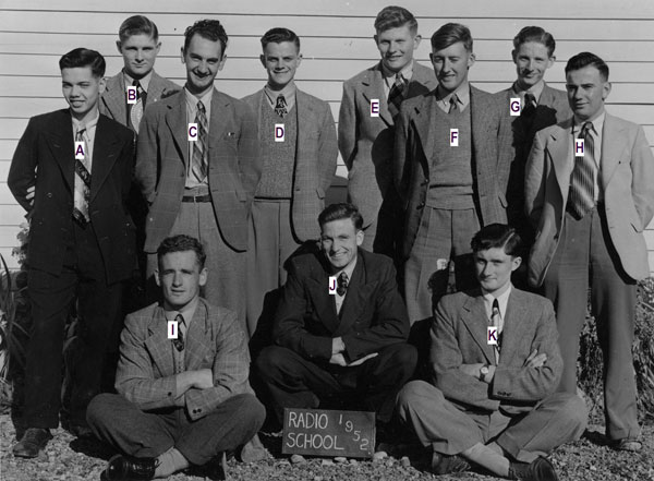 Trainees at radio training school, Trentham, in 1952