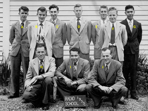 Trainees at radio training school, Trentham, in 1953