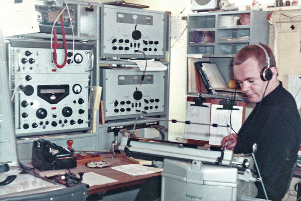 John Brennan at Chatham Islands Radio ZLC in 1968