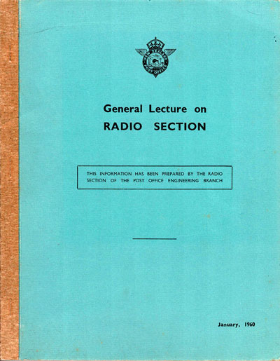General Lecture on Radio Section, cover, 1960