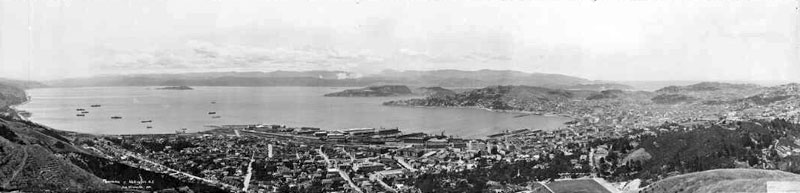 View of Wellington from Tinakori Hill in 1923