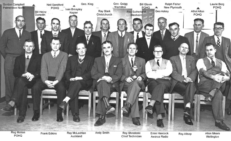 1963: Senior radio technicians attending a conference at Post Office headquarters