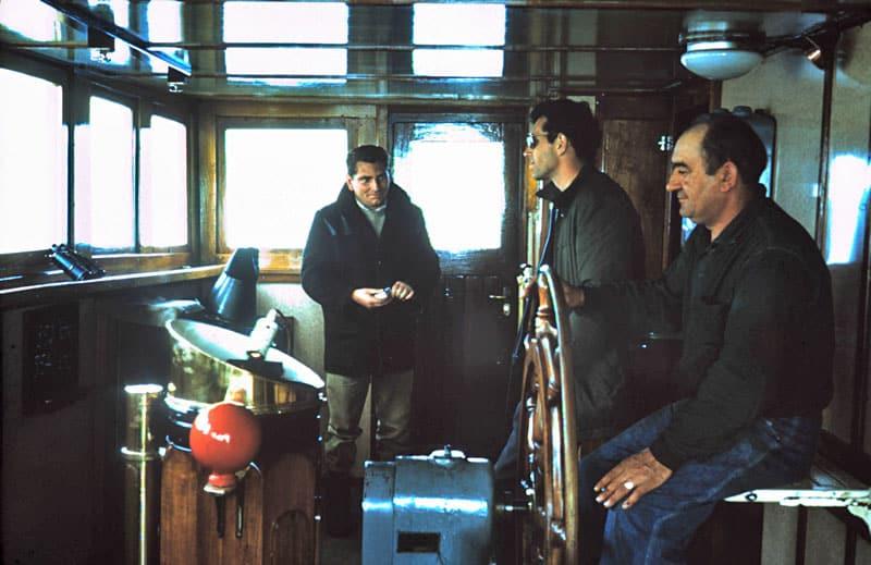 Aboard MV Holmburn en route Campbell Island to Wellington in November 1964