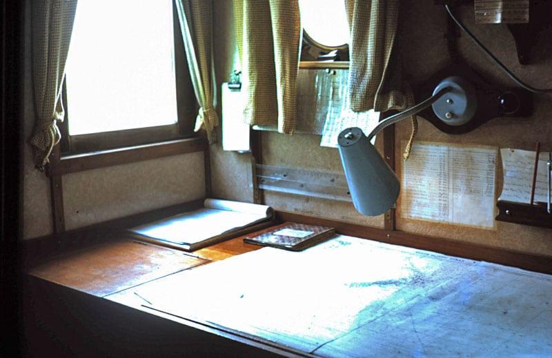 MV Holmburn navigation table