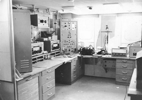 radio room of the refrigerated cargo vessel Manapouri