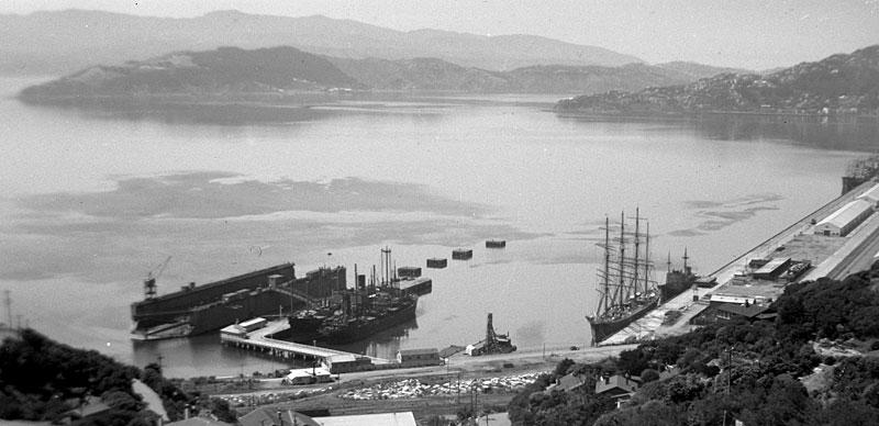 Pamir in Wellington, 1948