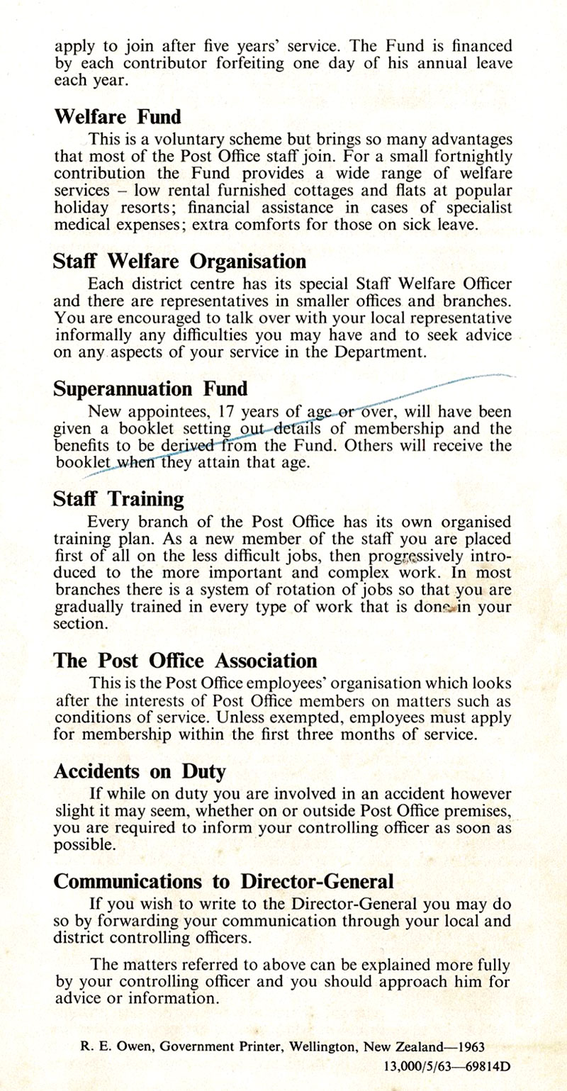 1963 NZPO Information for new appointees