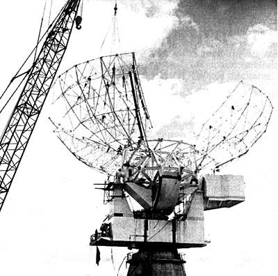 Warkworth satellite earth station under construction