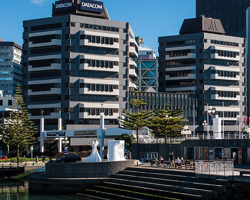 The two towers of Britannic House, later known as the Datacom building