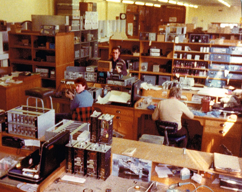 Christchurch Radio Depot in the early 1980s