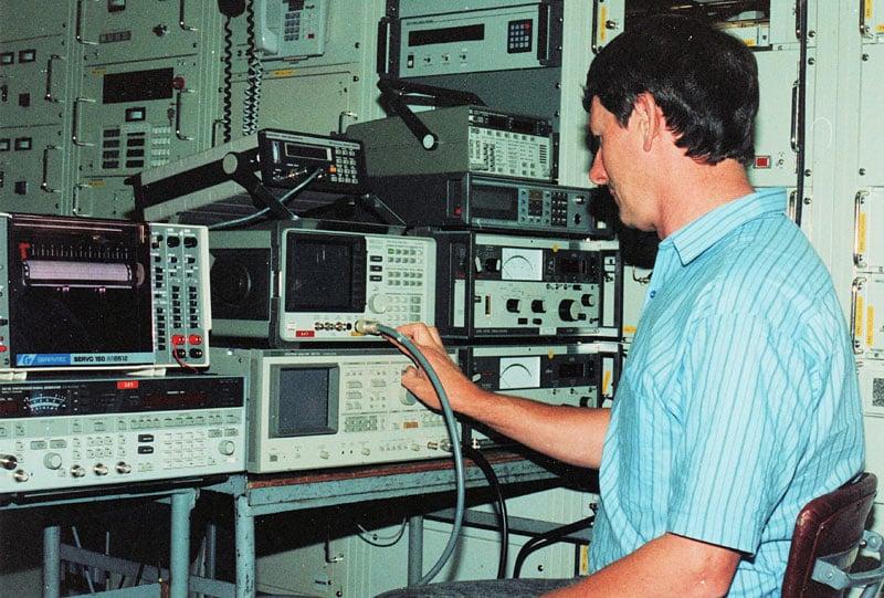 Kevin Heyward running tests at Rangiora SES