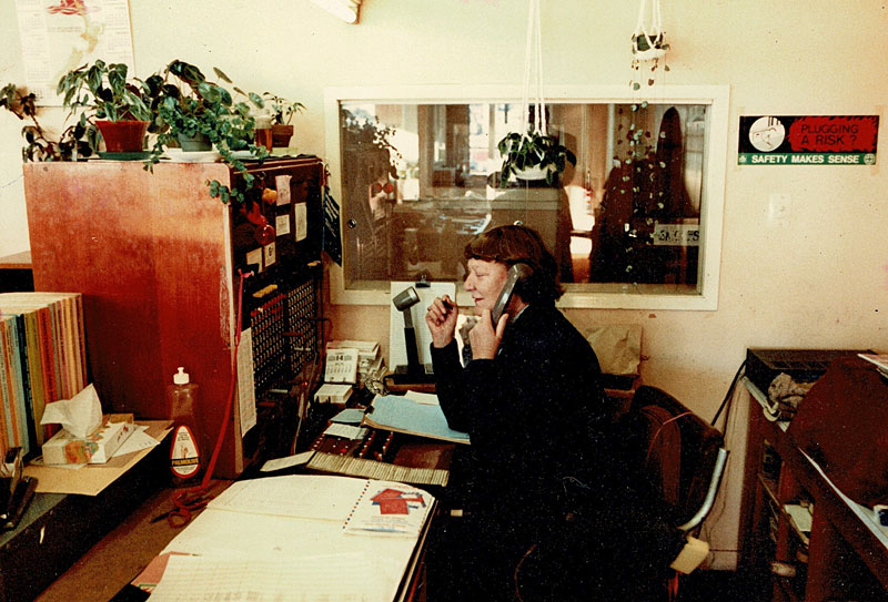 Audrey Fenton, receptionist and Radio Section stalwart
