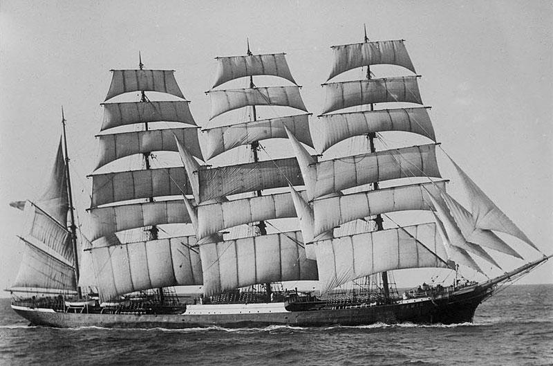 4-masted barque Pamir