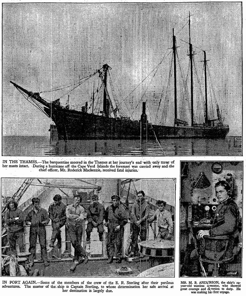 Photos of ER Sterling following arrival in London, 1928