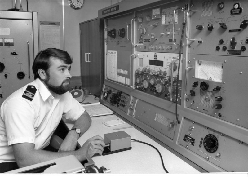 Radio Officer Roger Wincer ZL2RX aboard Arahanga ZMBN in January 1973