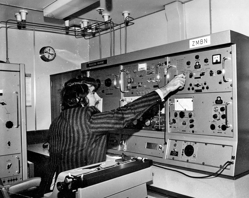 Radio room aboard Arahanga, 11 March 1975