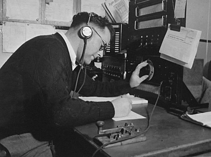 Maurice Roy (Morrie) Drake at Awarua Radio ZLB