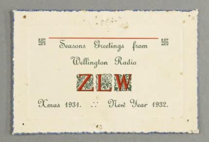 1931 ZLW Christmas card