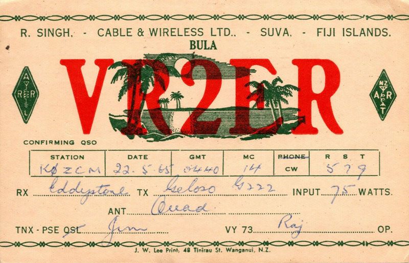 VR2ER QSL card
