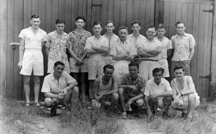 Demobbed Radio Section staff, Suva Radio c1946