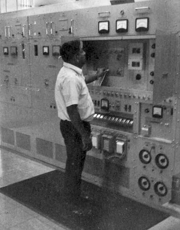Raj Singh at earth station