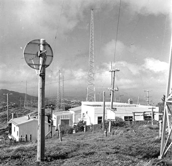 Wellington Radio ZLW on Tinakori Hill in 1957.