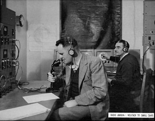 Charles Alan Glennie and Bert McKechnie at Awara Radio ZLB