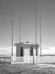 Direction-finding hut at Awarua Radio