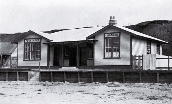 The combined courthouse and post office built in 1916 at Waitangi, Chatham Islands