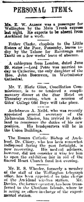 New Zealand Herald, 1 July 1913, p8