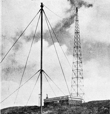 Steel lattice mast at Wellington wireless station erected in 1923