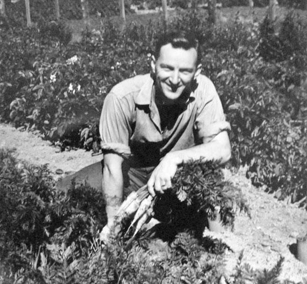 Awarua Radio operator Syd Faass in 1953