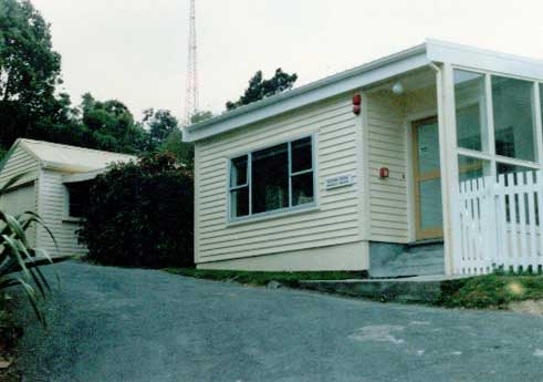 Main entrance of the RO building at ZLW in 1985.
