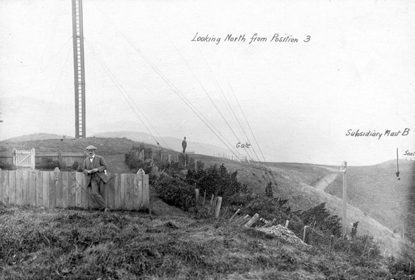 """Undated photo of a """"new wooden mast"""" at ZLW"""