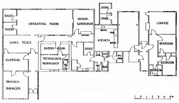 Plan of the Receiving Office at ZLW in 1985.