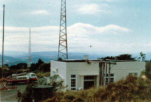 South end of the transmitter building at ZLW c 1985