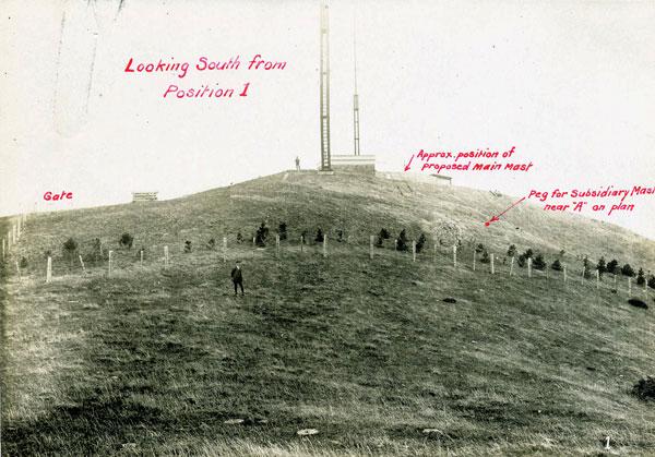 An early view of the Wellington Radio site on Tinakori Hill