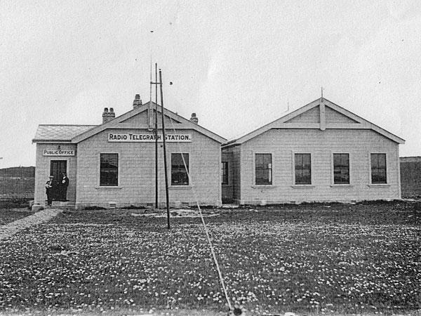 Chatham Islands Radio Telegraph Station. Date unknown