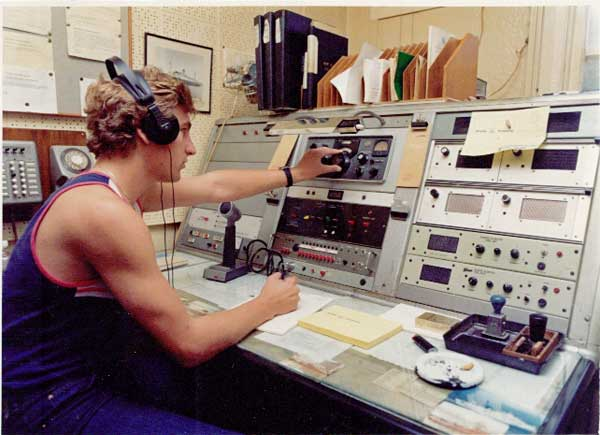 Tim Sollart, operator at ZLW Wellington Radio circa 1982-1983