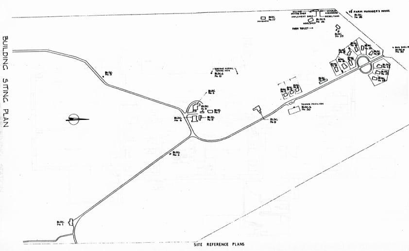 Site plan of Awarua Radio ZLB c1985