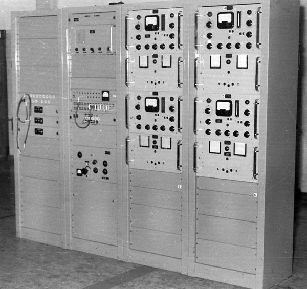 FSK exciter bay at Himatangi Radio, prior to construction of the drive room