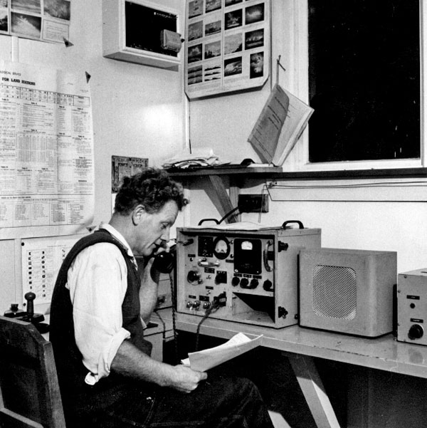 Radio installation at Brothers Islands lighthouse, date unknown