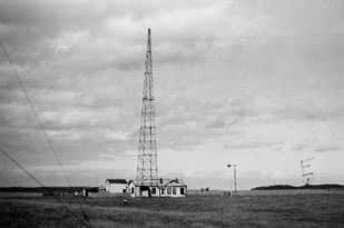1913 photo of Chatham Islands wireless station