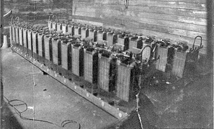 Batteries at Chatham Islands wireless station in 1913