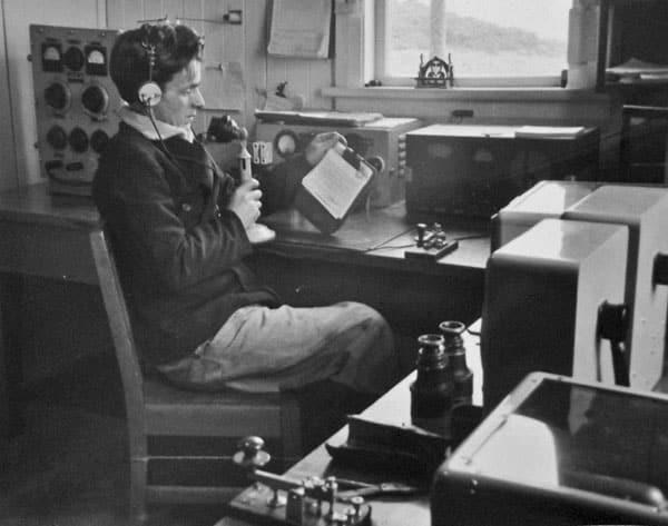 Radio installation at Puysegur Point lighthouse