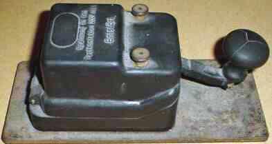 Telegraph key, salvaged from the sunken cruise ship Mikhail Lermontov